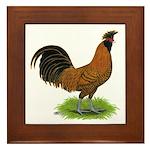 Gold Brabanter Rooster Framed Tile