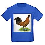 Gold Brabanter Rooster Kids Dark T-Shirt