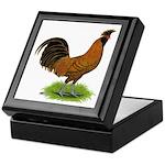 Gold Brabanter Rooster Keepsake Box