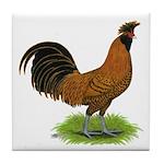 Gold Brabanter Rooster Tile Coaster