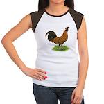 Gold Brabanter Rooster Women's Cap Sleeve T-Shirt