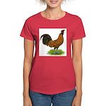 Gold Brabanter Rooster Women's Dark T-Shirt