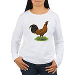 Gold Brabanter Rooster Women's Long Sleeve T-Shirt