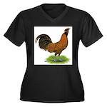 Gold Brabanter Rooster Women's Plus Size V-Neck Da