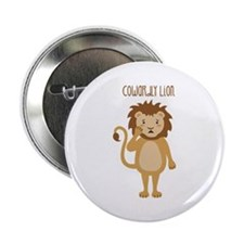 """Cowardly Lion 2.25"""" Button (10 pack)"""