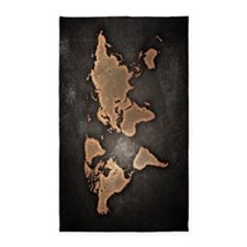 Vintage World Map 3'x5' Area Rug