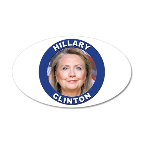Hillary Clinton 20x12 Oval Wall Decal