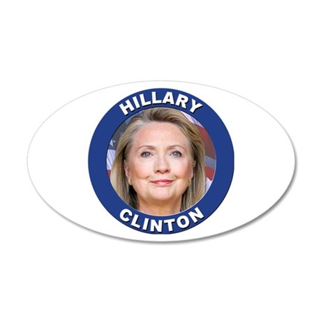 Hillary Clinton 35x21 Oval Wall Decal