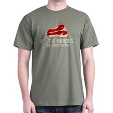 Meat is murder, tasty murder T-Shirt