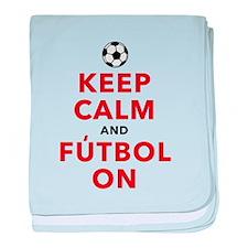 Keep Calm and Futbol On baby blanket
