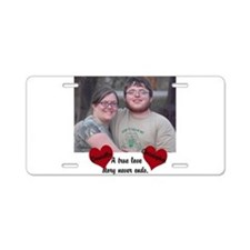 Personalize Picture Name True Love Aluminum Licens