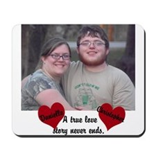 Personalize Picture Name True Love Mousepad