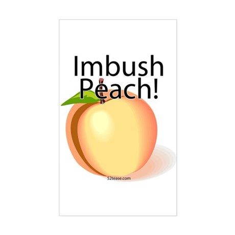 Imbush Peach! Rectangle Sticker