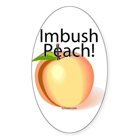 Imbush Peach! Oval Sticker