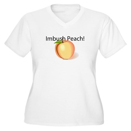 Imbush Peach! Women's Plus Size V-Neck T-Shirt