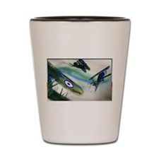 Planes, vintage fighters, Shot Glass