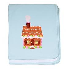 Gingerbread House baby blanket