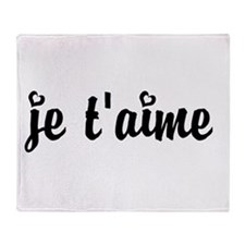 I Love You in French Throw Blanket