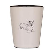 Welsh Corgi dog Shot Glass
