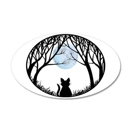 Cat Lover Wall 20x12 Cat 20x12 Oval Wall Decal