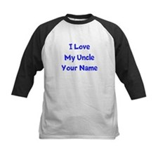 I Love My Uncle (Your Name) Baseball Jersey