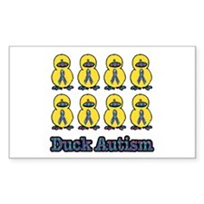 Autism Awareness Puzzle Ribbon Ducks Decal