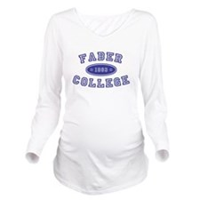 Faber College Long Sleeve Maternity T-Shirt