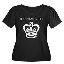 Custom King Chess Piece Plus Size T-Shirt