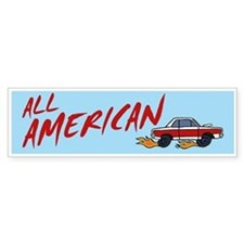 All American Bumper Bumper Sticker