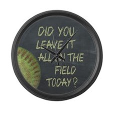The Field Today Fastpitch Softbal Large Wall Clock