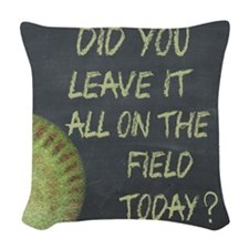 The Field Today Fastpitch Soft Woven Throw Pillow