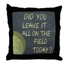 The Field Today Fastpitch Softball Mo Throw Pillow