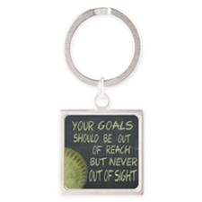 Your Goals Fastpitch Softball Moti Square Keychain