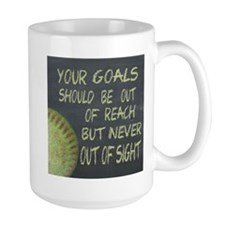 Your Goals Fastpitch Softball Motivatio Mug