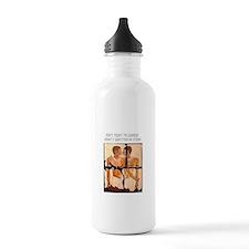 Homosexuality written in stone Water Bottle