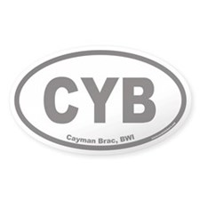 Cayman Brac CYB Euro Oval Decal