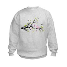 Happy Esater, spring tree with bunnies Sweatshirt
