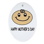 HAPPY MOTHER'S DAY Oval Ornament
