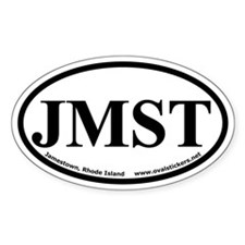 Jamestown, Rhode Island Oval Car Decal