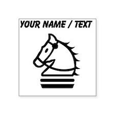 Custom Knight Chess Piece Sticker