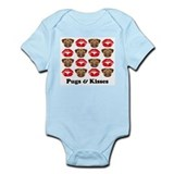 Pugs and Kisses  Baby Onesie