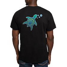 Turtle On Back Men's Fitted T-Shirt (Dark) Men's F