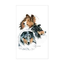 Sheltie Portraits Rectangle Bumper Stickers
