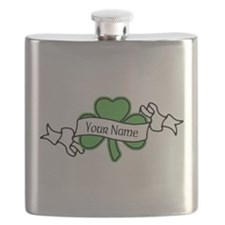 Shamrock CUSTOM TEXT Flask
