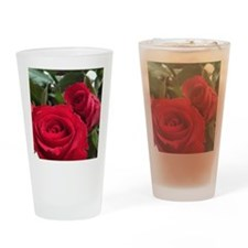 Red Roses Drinking Glass
