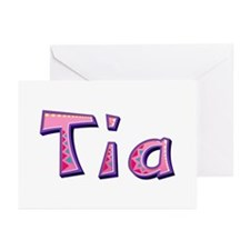 Tia Pink Giraffe Greeting Card 20 Pack