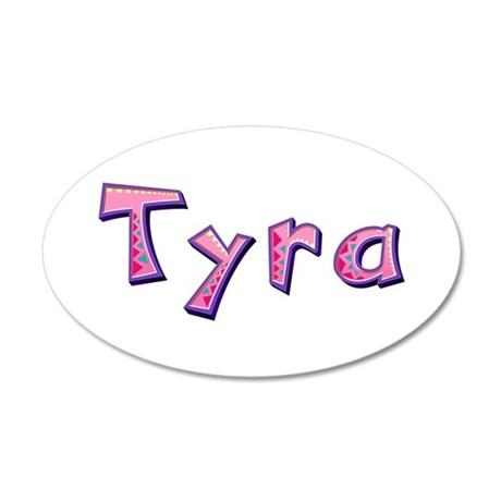 Tyra Pink Giraffe 35x21 Oval Wall Decal