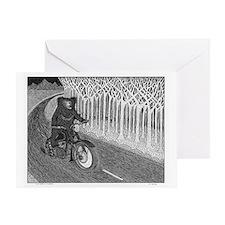 Sloth Bear On Motorbike Greeting Card