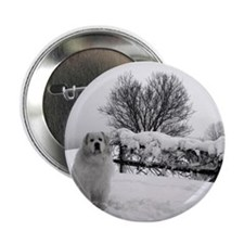 "Great Pyrenees 2.25"" Button"