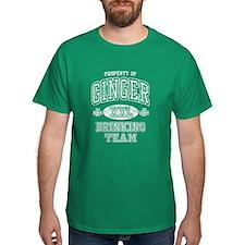 Ginger Drinking Team Irish Dark t shirt T-Shirt